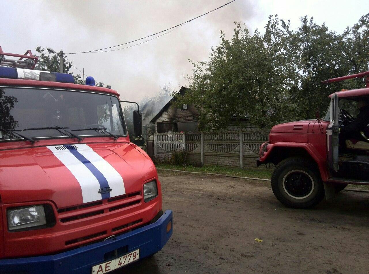 Пожар на улице Мясникова.