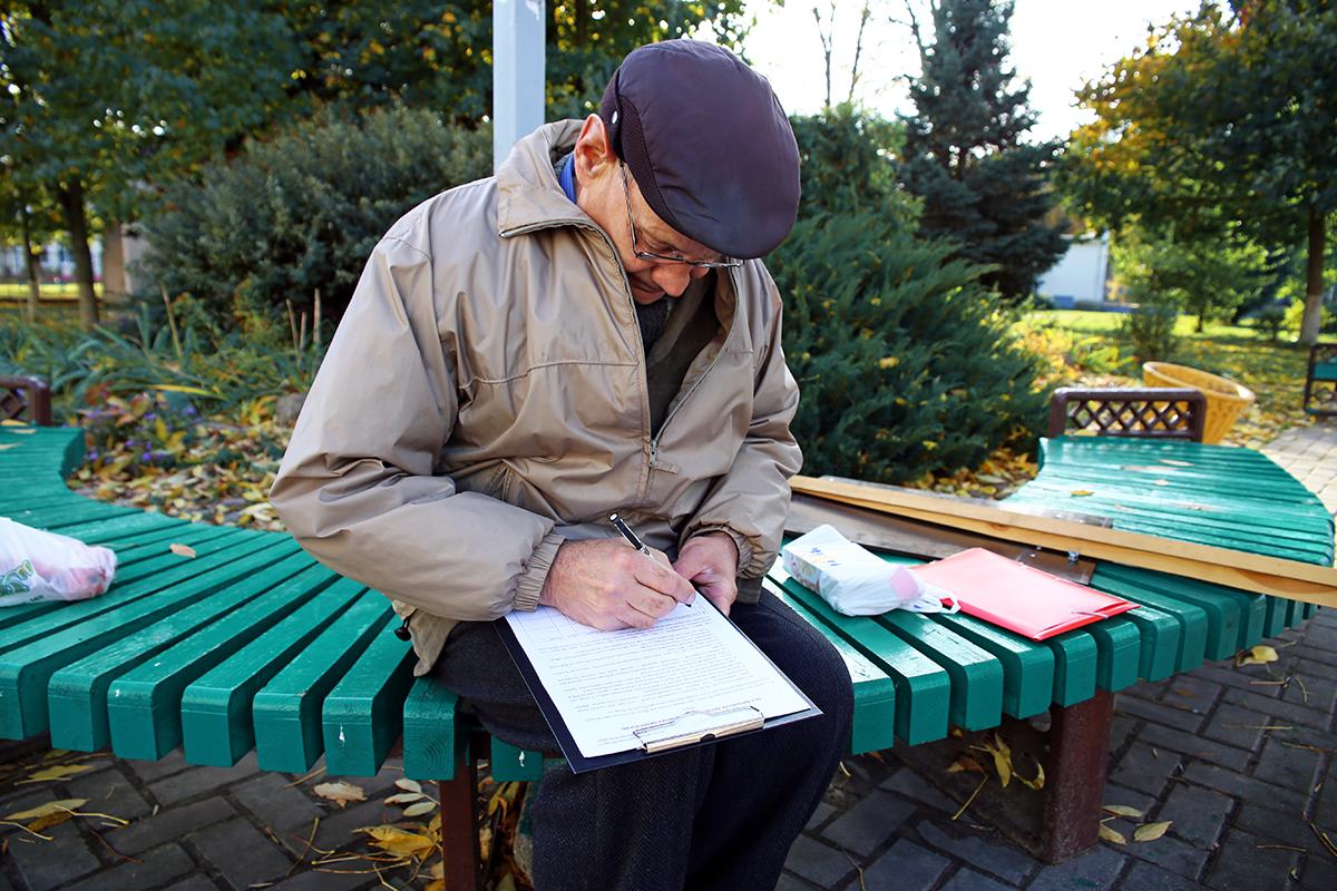Михаил Филиппович первым поддержал инициативу. Фото: Евгений ТИХАНОВИЧ