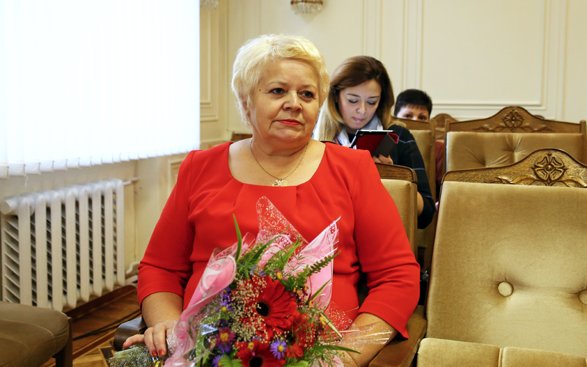 Любовь Ольшевская, председатель ветеранской организации Барановичского ЖКХ. Фото: Евгений ТИХАНОВИЧ
