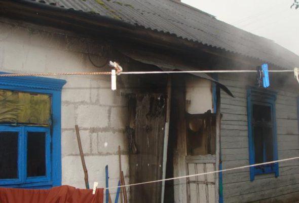 В Ляховичском районе при пожаре погиб мужчина