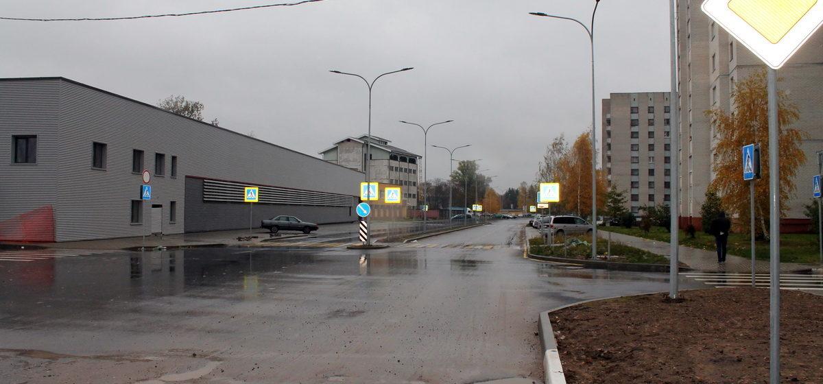 В Барановичах на улице Текстильной убрали столб, который стоял посреди дороги