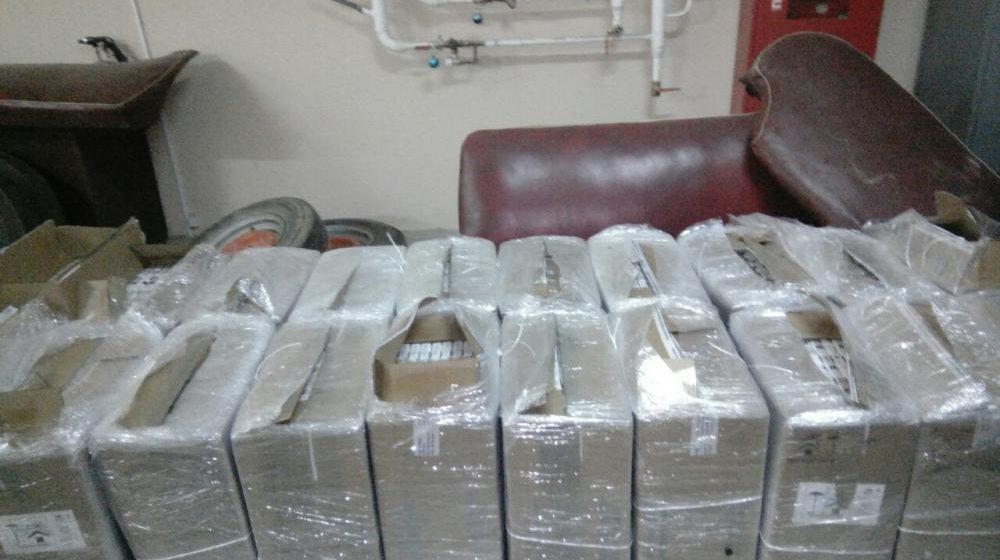 Ляховичская ГАИ задержала мужчин, которые нелегально перевозили 62500 пачек сигарет и 140 литров солярки