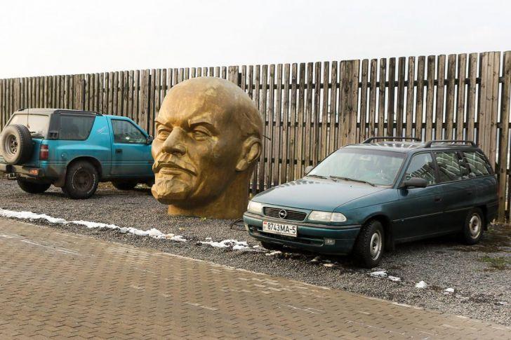 На «Линии Сталина» «припарковалась» голова Ленина