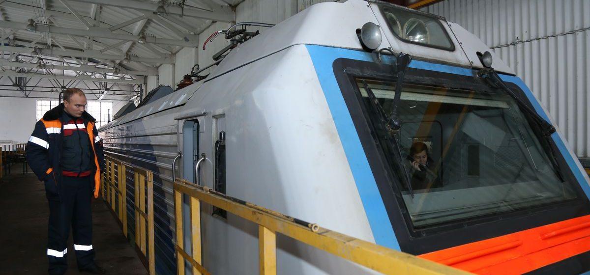В локомотивном депо Барановичи готовят участок для ремонта электровозов серии БКГ