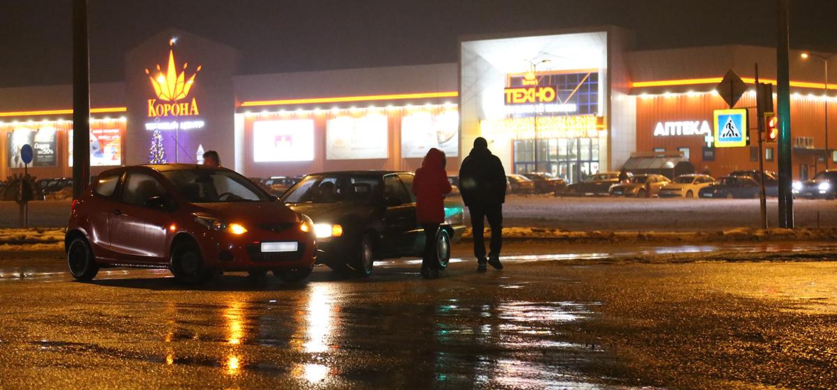 В Барановичах произошло ДТП в Северном микрорайоне