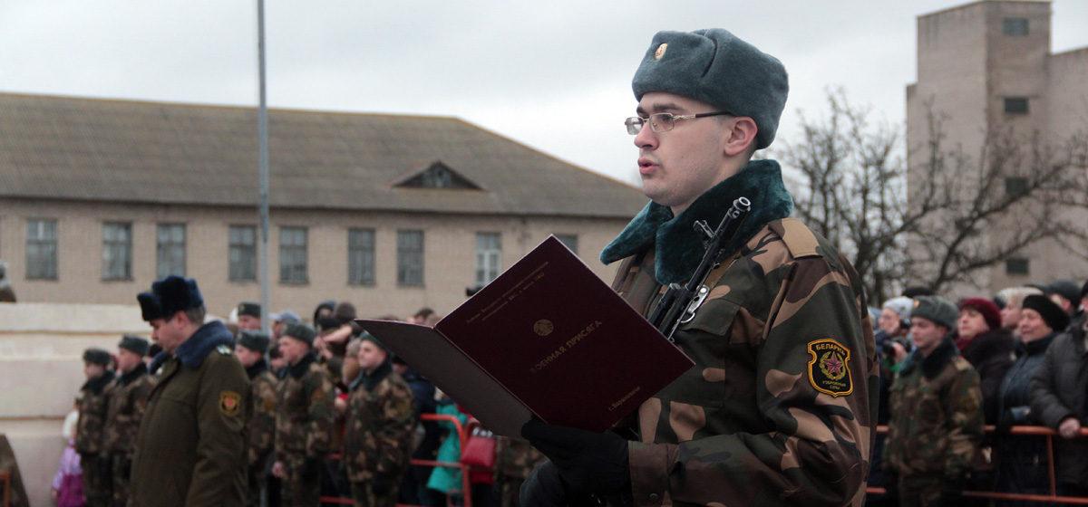 Военную присягу приняли новобранцы 120-й зенитной ракетной бригады