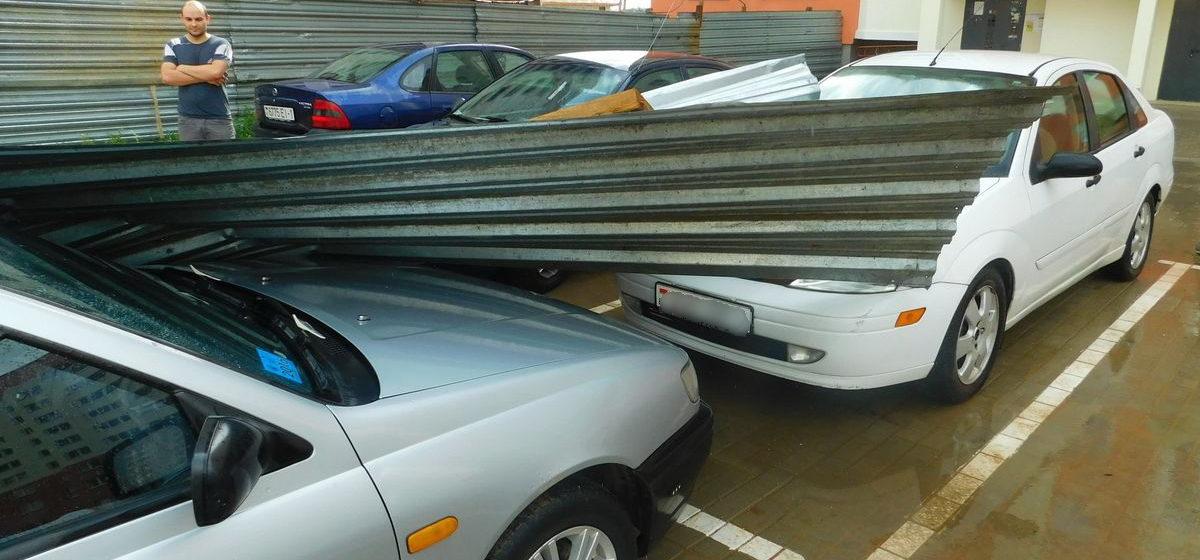 В Барановичах водители получат компенсацию за автомобили, разбитые жестью со стройки