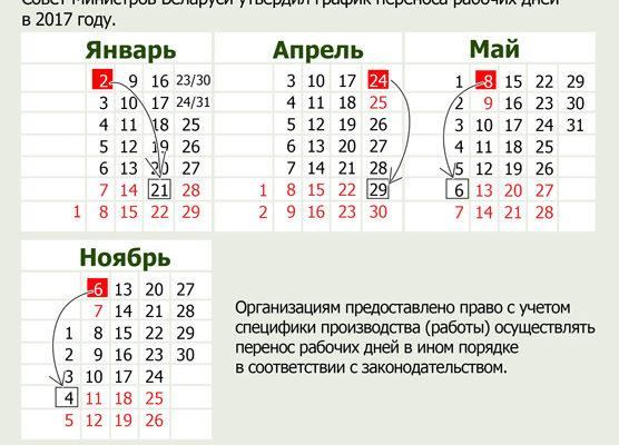 В Беларуси ближайшая суббота – рабочая