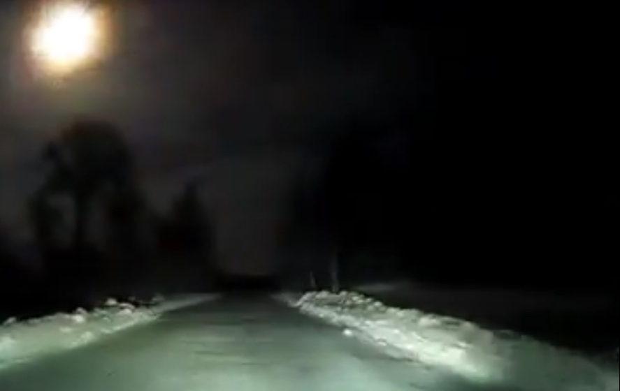 В небе над Архангельской областью взорвался метеорит (видео)