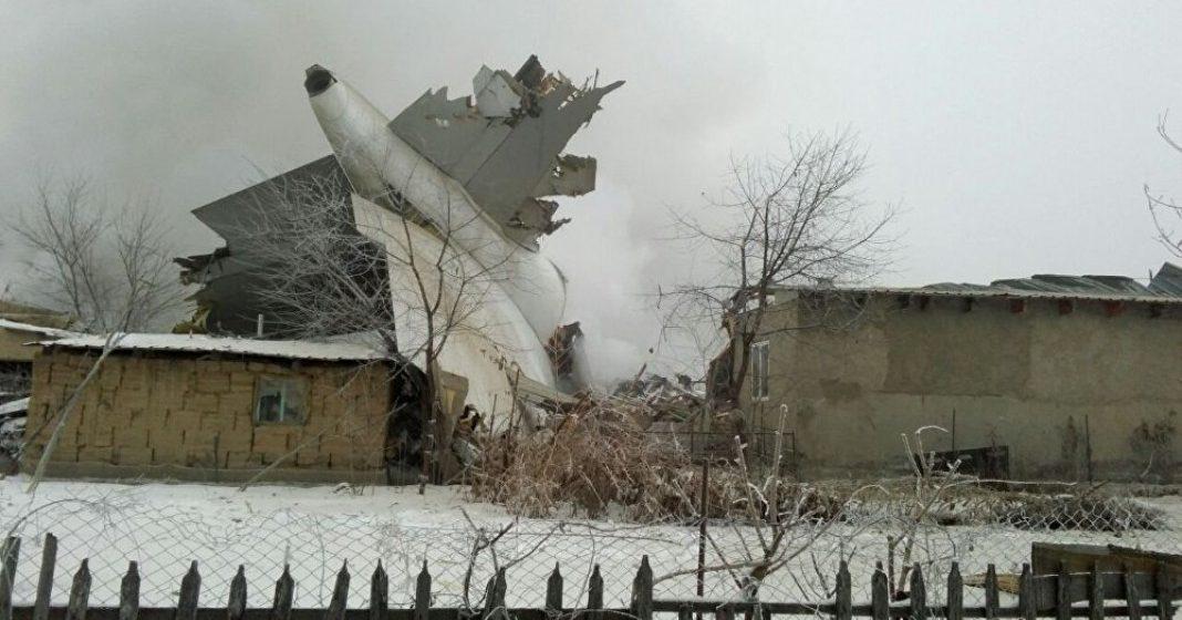 Турецкий Boeing-747 упал под Бишкеком на жилые дома – десятки погибших