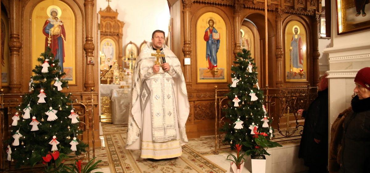 Фоторепортаж: В Барановичах православные отмечают Рождество Христово