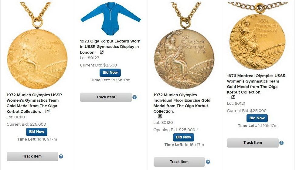 Ольга Корбут выставила свои олимпийские медали на аукционе в Далласе