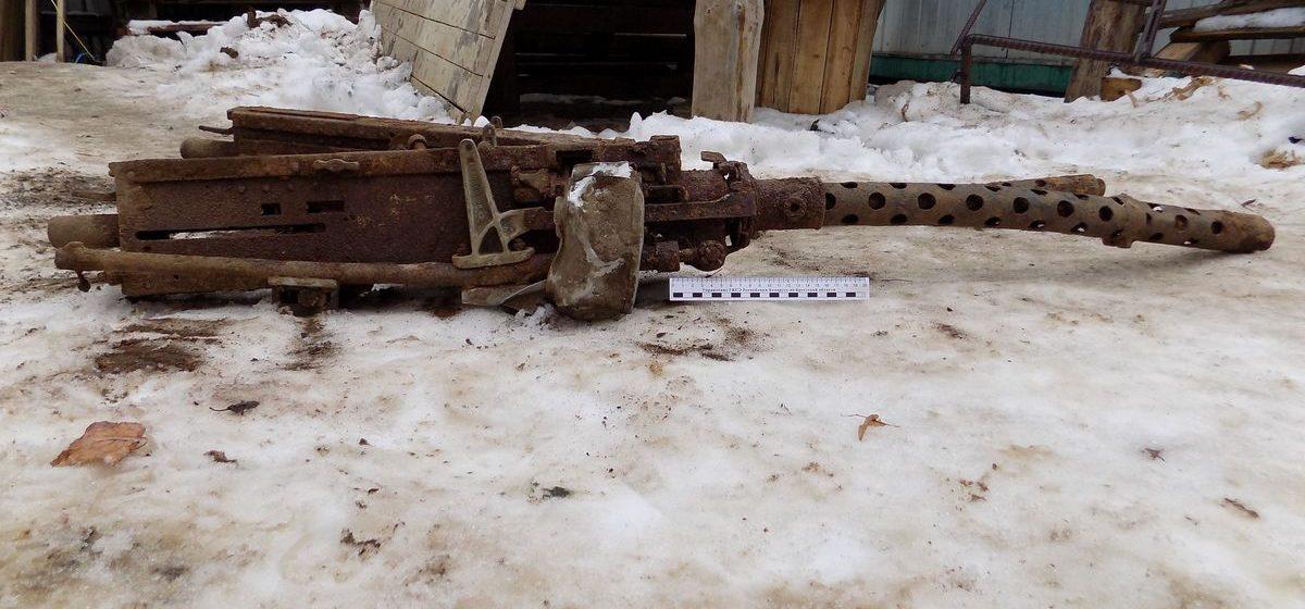 В Барановичах нашли два пулемета времен Великой Отечественной войны
