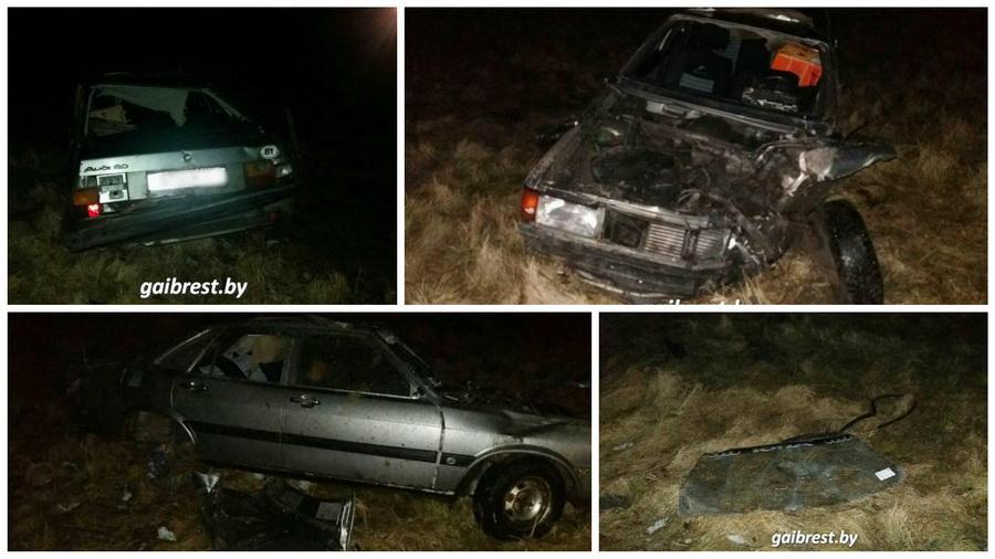 В Столинском районе перевернулась Ауди — пьяный водитель погиб