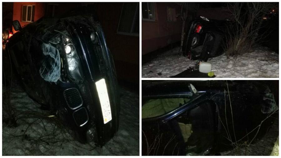 Ночное ДТП в Мозыре: автомобиль BMW съехал в кювет и опрокинулся, погиб пассажир