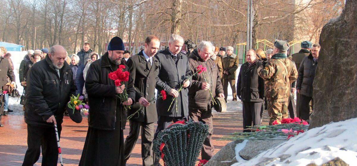 В Барановичах почтили память воинов-интернационалистов