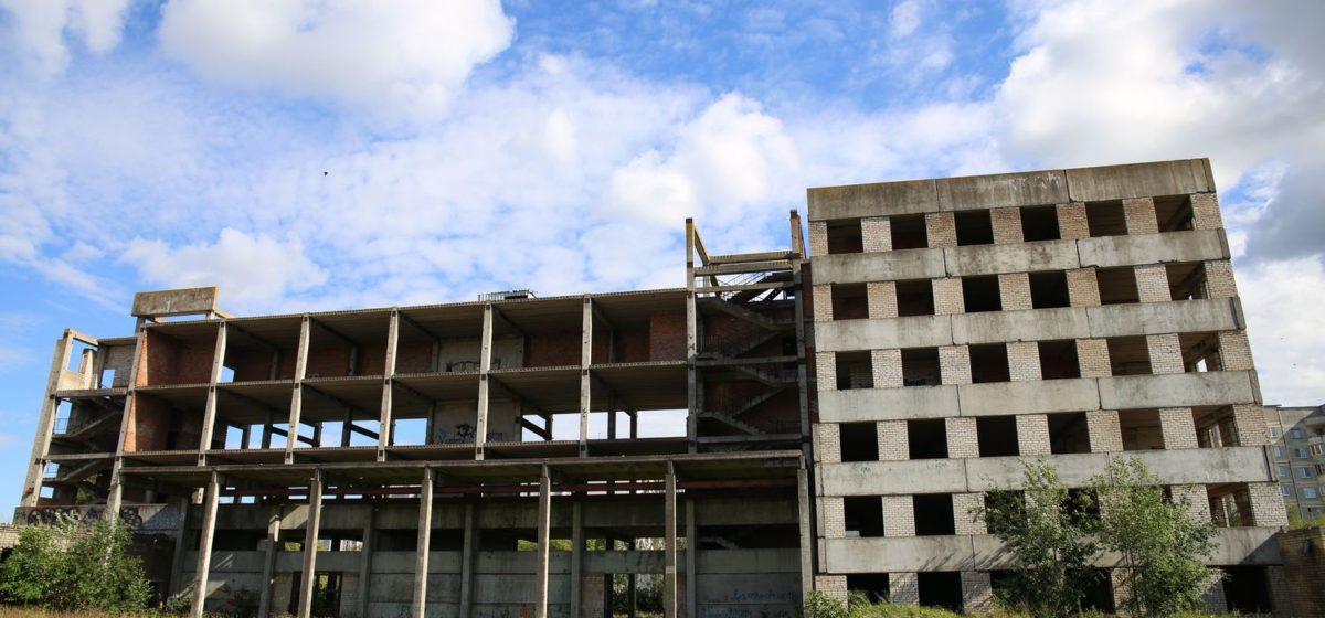 В 2017 году снесут недостроенное здание надомного труда в Южном микрорайоне в Барановичах