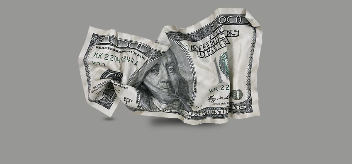 Житель Барановичей попытался сдать фальшивую 100-долларовую купюру, которую «нашел на дороге»