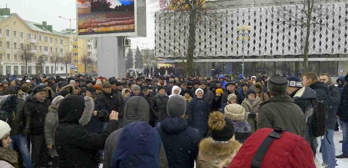 В Барановичах и других городах Беларуси прошли акции протеста против Декрета №3