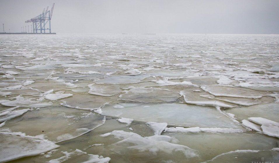 Фотофакт: В Одессе замерзло Черное море