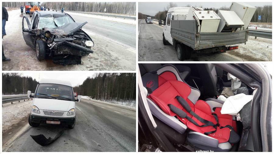 В Ивацевичском районе столкнулись два автомобиля, пострадала 5-летняя девочка