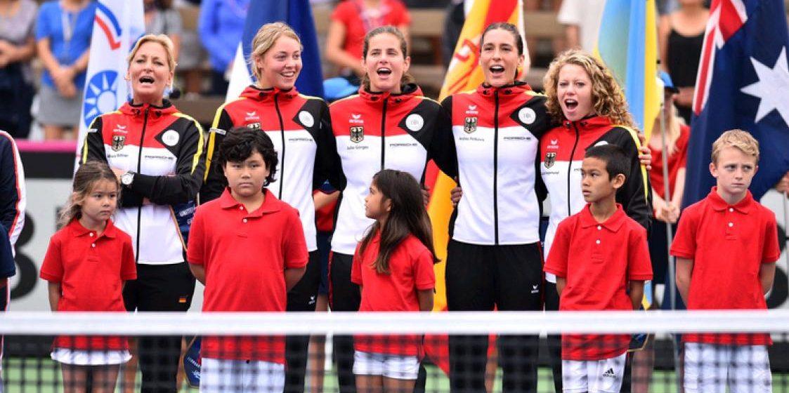 Перед теннисным матчем между США и Германией исполнили гимн времен Третьего рейха