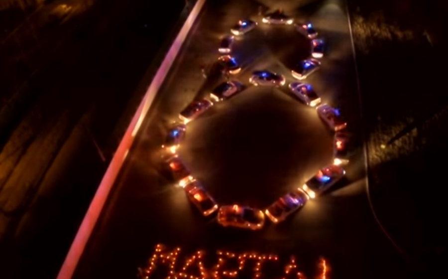 Гомельская ГАИ сняла видеоролик поздравления женщин, выстроив «8 Марта» из патрульных машин