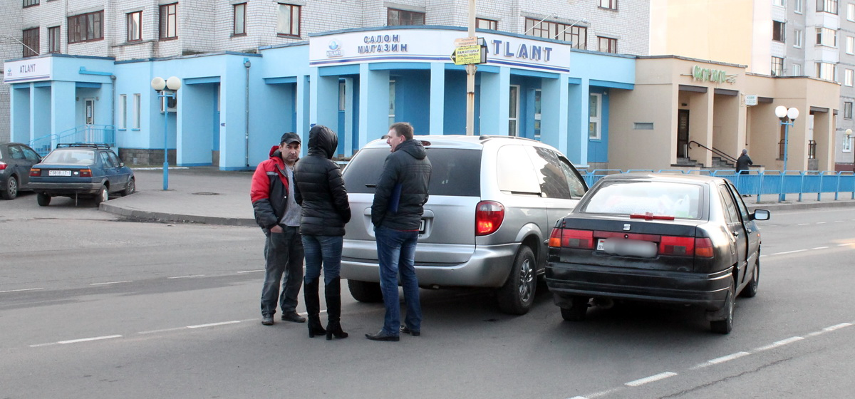 В Барановичах на улице Советской произошло ДТП