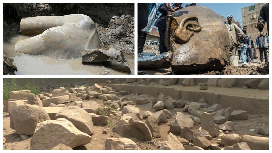 В Каире археологи обнаружили статую фараона Рамзеса II