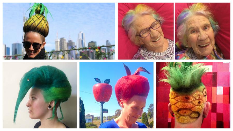 Подборка фотографий фантастических причесок от австралийского парикмахера