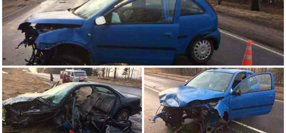 В Смолевичском районе на встречной полосе столкнулись две легковушки: оба водителя в больнице