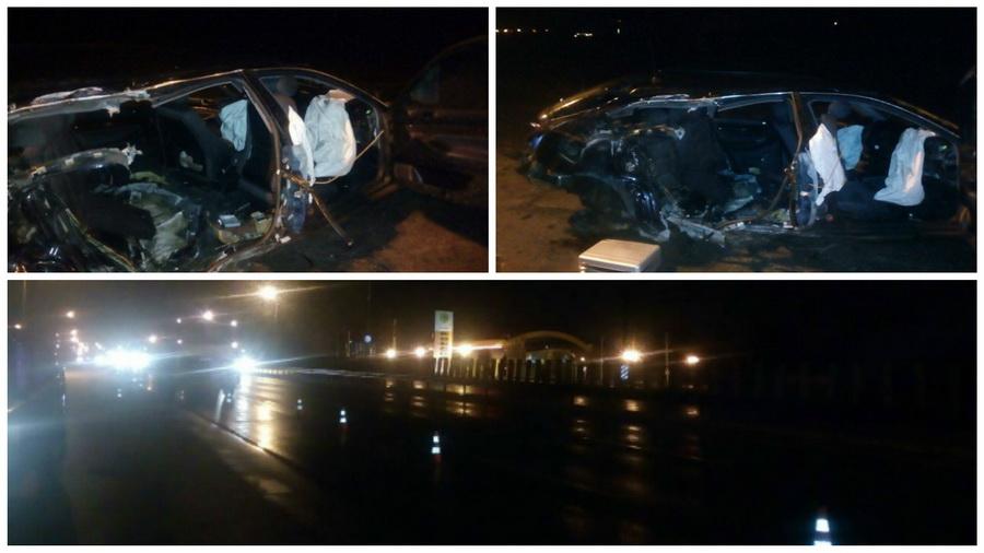 Страшная авария на МКАД: Audi врезалась в столб, один человек погиб, пятеро в больнице