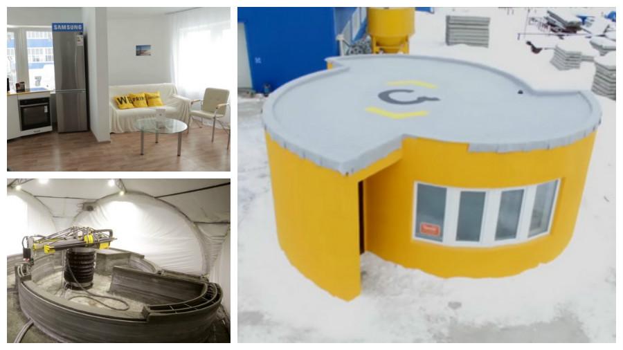 Компания Apis Cotr при помощи 3D-принтера за сутки построила дешевый дом