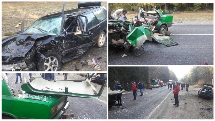 В Дятловском районе лоб в лоб столкнулись две легковушки, пострадали три человека