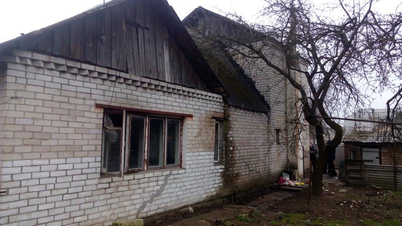 В Барановичах на улице Лазо горел жилой дом