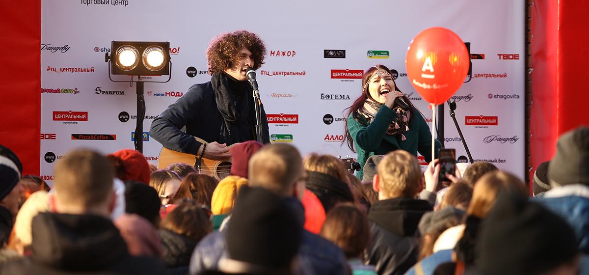 Группа Naviband выступила в Барановичах на открытии ТЦ «Центральный»
