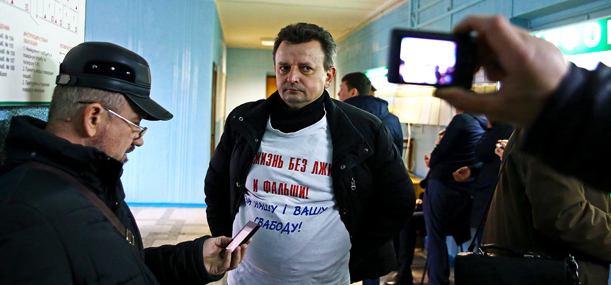 Барановичскому активисту дали семь суток за участие в митинге в Бобруйске