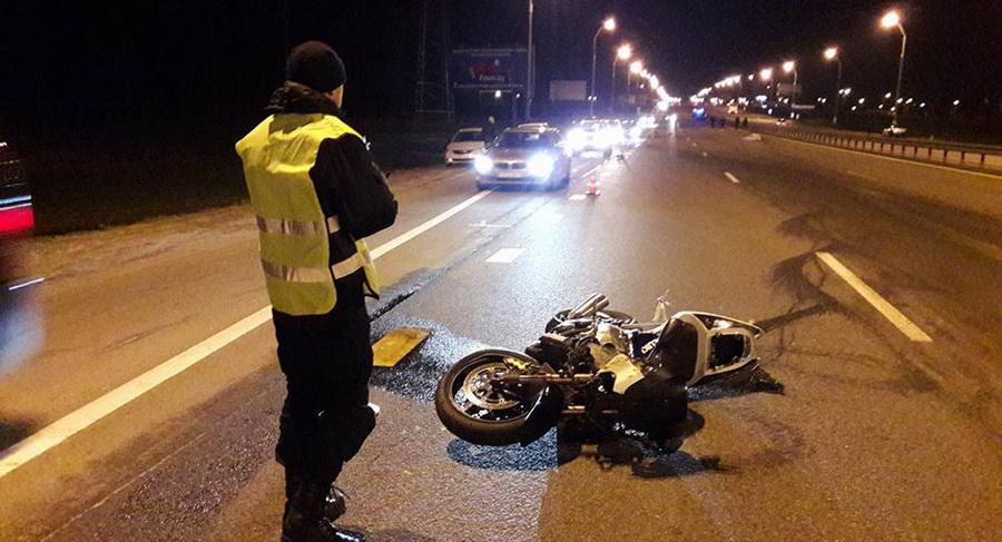 На МКАД разбился мотоциклист