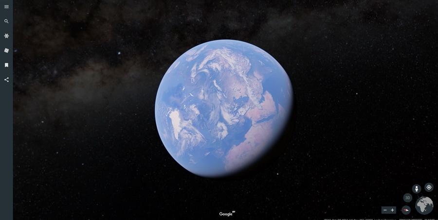 Компания Google выпустила веб-версию приложения «Планета Земля»