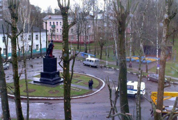 В Могилеве на памятнике Ленину написали: «Убийца миллионов людей»