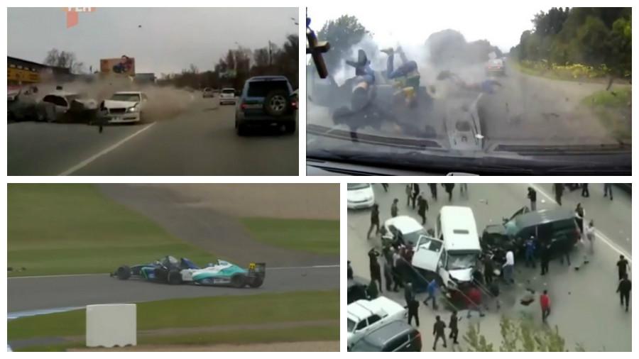 ТОП-5 видео ужасных аварий, которые произошли в апреле