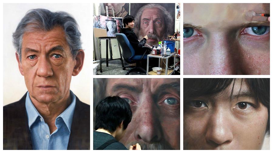 Подборка гигантских гиперреалистичных портретов, созданных южнокорейским художником