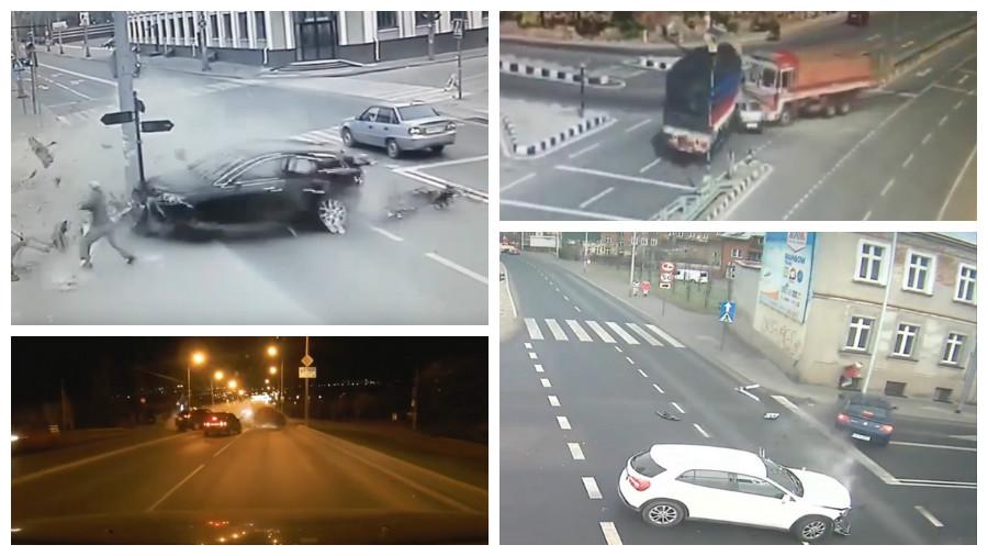 ТОП-7 ужасных аварий за апрель, которые попали на видеокамеру