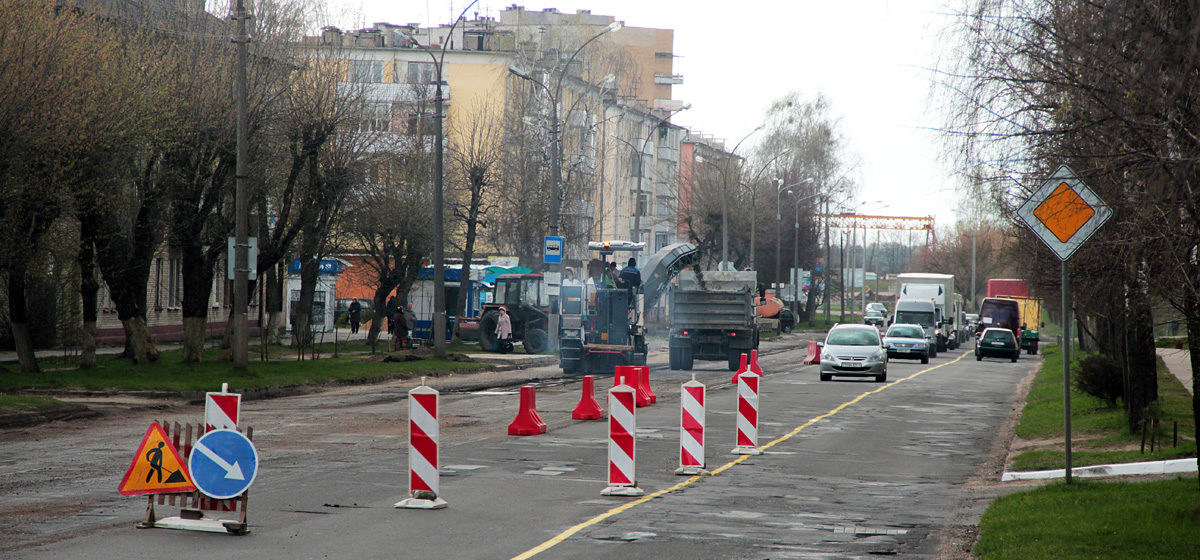 Фотофакт. В Барановичах начали ремонт улицы Брестской
