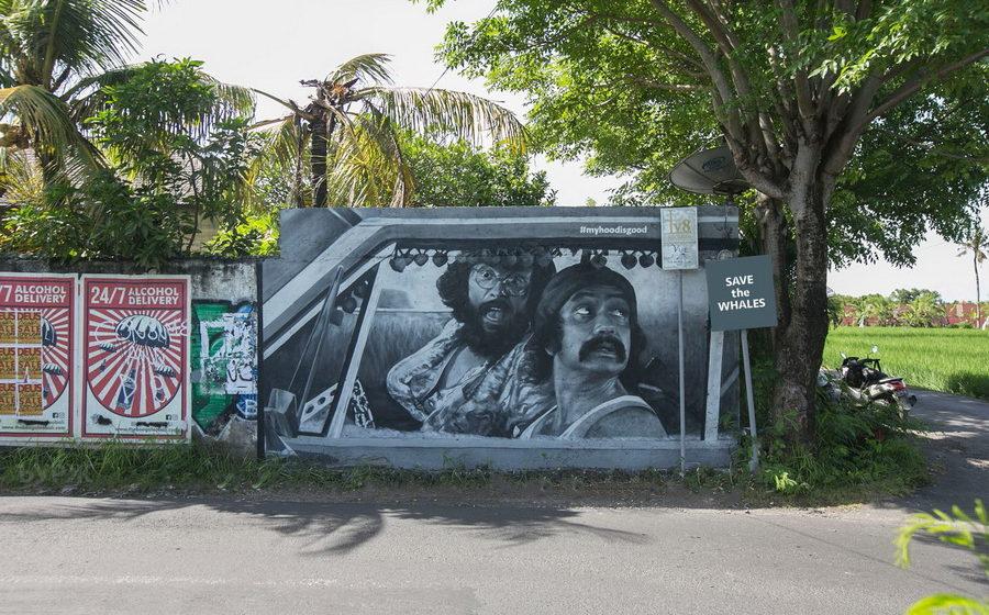 На острове Бали задержали белорусских граффитистов