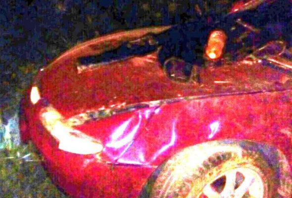 Возле Барановичей водитель уснул за рулем и машина «улетела» в кювет