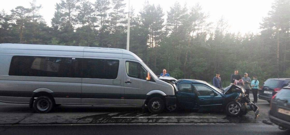 Под Минском столкнулись пять автомобилей, есть пострадавшие