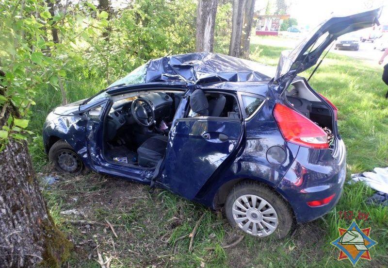 На Брестчине Ford врезался в дерево – пострадали две женщины и 10-месячный ребенок