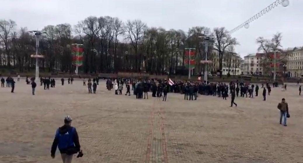 Акция протеста 1 мая в Минске (онлайн)