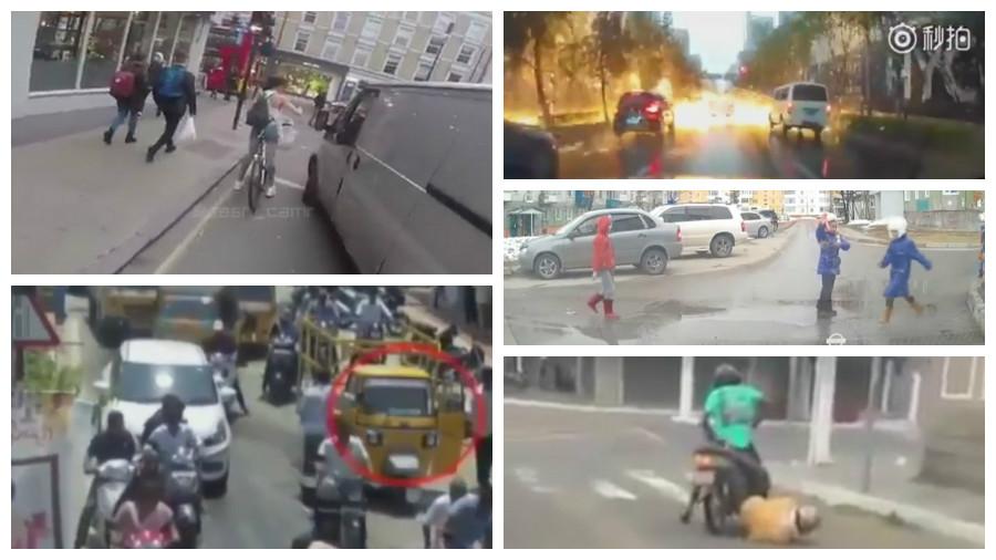 ТОП-7 прикольных роликов с видеорегистраторов за май